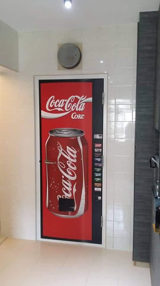 Coke Vending Machine door decal