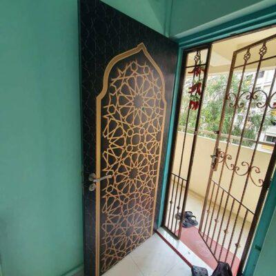 Islamic Pattern Door Decal V7