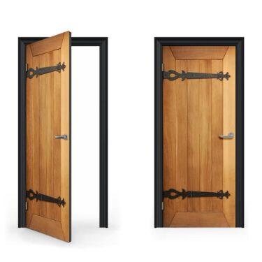 Old Wood Door Decal